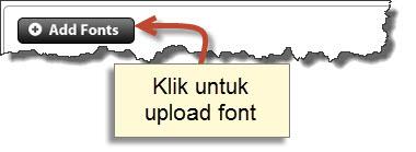 upload font