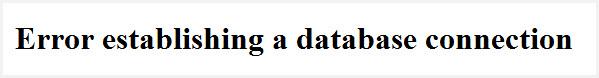 error database connection