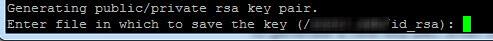 generate public key ssh