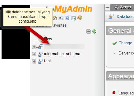 database phpmyadmin