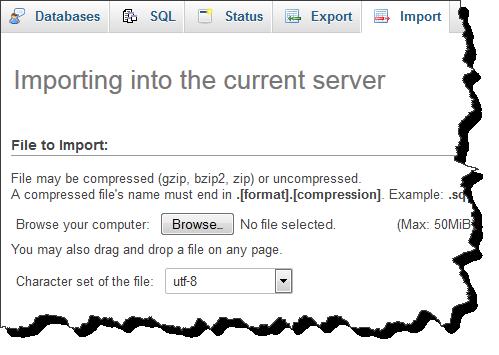 import database