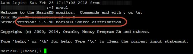 Cek Install MariaDB