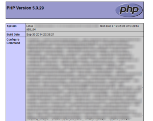 phpinfo