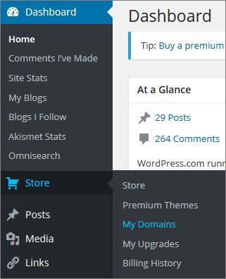 wordpress-dashboard-store