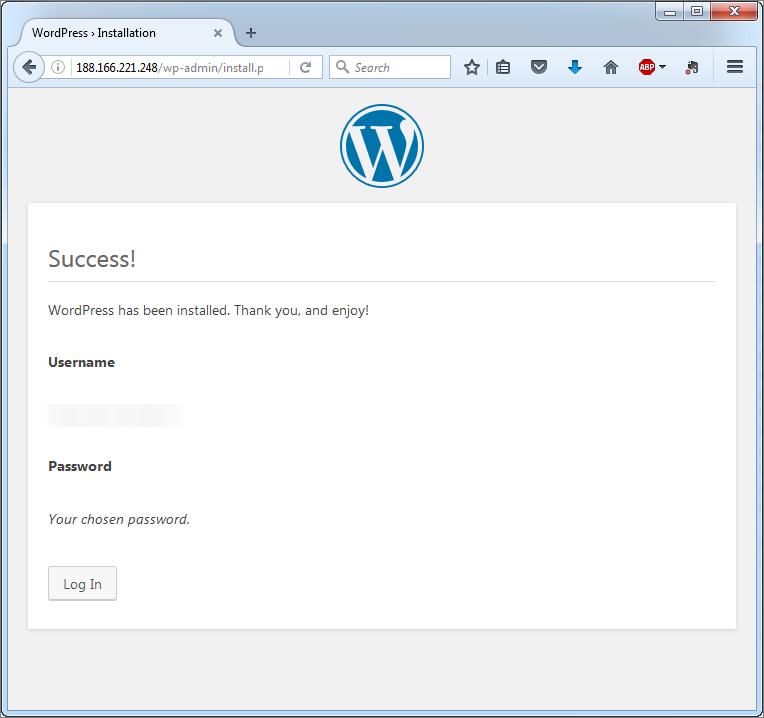wordpress-installation-success