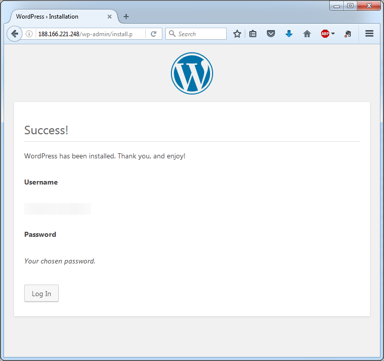 wordpress-installation-success