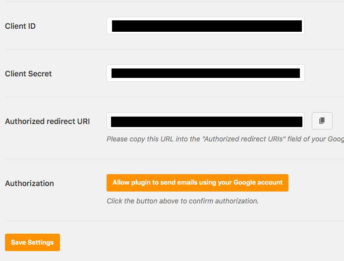 Client ID client secret di WordPress
