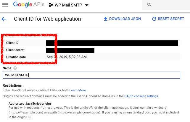 Client ID client secret